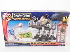 Star Wars Angry Birds AT AT Attack Battle Game Lightsaber Launcher Hasbro NEW