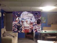 HUGE! 43x32 MARK MESSIER vinyl Banner POSTER New York Rangers wayne Gretzky art