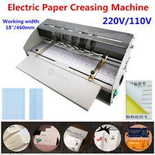 "18"" 460mm Electric Perforator Paper Creasing Machine Scoring Creaser CE"