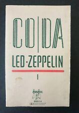 LED ZEPPELIN - 'Coda' 1982 Cassette Tape Album