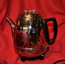 Vintage General Electric Percolator GE 33P30 Pot Belly Chrome Coffee Maker WORKS