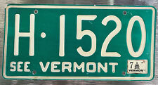 🌟🐦🐦🌟  AUTHENTIC USA 1976 VERMONT LICENSE PLATE. SEE VERMONT