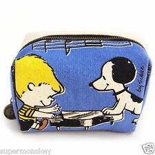 SHO-BI SNOOPY 65TH ANNIVERSARY VINTAGE SERIES CANVAS BAG BLUE OP81412
