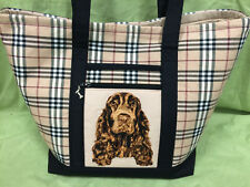 Beautiful Custom Embroidered Field Spaniel Tote