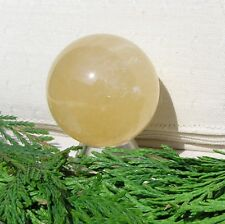 Citrine Quartz Solid Gemstone Sphere - 40mm Diameter Complete with Stand