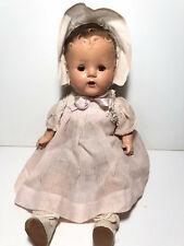"""VINTAGE 17"""" COMPOSITION AND CLOTH BABY DOLL ~"""