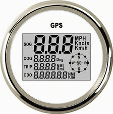 GPS MPH KM/H Knot SOG COG Meter For Motorcycle Car Truck Boat Yacht Digital 85MM