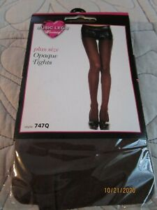 NEW Music Legs Hosiery Plus Size Opaque Tights Style 747Q Up to 250 lbs  Nylon