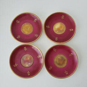 Antique Swedish Tea Set 4 Replacement Saucers Vintage KP Karlskrona Halo Sweden
