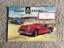 1958 British triumph TR3 original dealership showroom color sales handout
