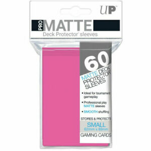 60 Ultra Pro Bright Pink Pro-Matte Deck Protectors. Trading Card Sleeves.