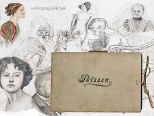 Skizzenbuch von Ludwig Tepag (?), 19 Zeichnungen um 1900