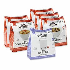 Augason Farms Pantry Pack Instant Breakfast Variety 6 Pouches - Emergency Food