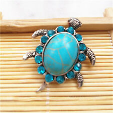 Jewelry Turquoise Sea turtle Snaps Chunk Charm Button FIT For Noosa Bracelets