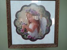 Homco Home Interior Little Angel Picking Flowers Picture