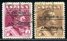 SPAN ANDORRA 1928 11-12C gestempelt SPITZENWERTE 1100€(S1500