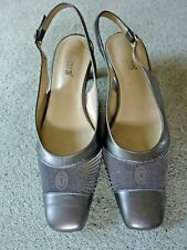 Ladies Lotus pewter sling-back heeled Shoes, size 4
