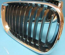 Front Hood Grill Left Driver Side Replace BMW OEM # 51137030545 Chrome/Black
