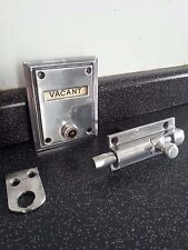 GIBBONS ART DECO ANTIQUE CHROME BATHROOM VACANT ENGAGED DOOR LOCK WC TOILET OLD
