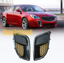 For 09-17 Buick Regal GS Carbon style Front Bumper Fog Light Mesh Grille Bezels