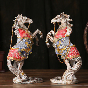 Resin Horse figurine statue Antique Finished home office table decor Ornaments