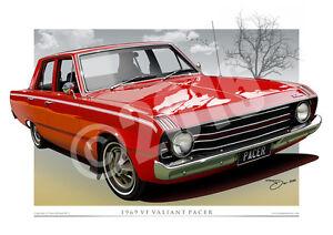 Valiant Pacer Print - 1969 VF Pacer Mopar Car Art in 5 Stunning Factory Colours