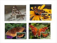 BUTTERFLIES 2014 INSECT BUGS 8 SOUVENIR SHEETS MNH UNPERFORATED PAPILLONS