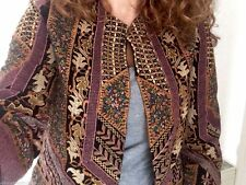 ZARA BROWN EMBROIDERED ETHNIC SHORT JACKET SS16 SIZE M (MEDIUM) NEW TAGS