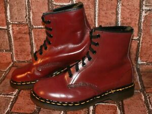 vintage made in England Dr. Martens AirWair smooth leather boots uk 5 Doc#32
