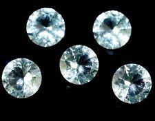 4 X 4 mm Natural Aguamarina Santa-Maria Aqua Azul 1 piezas Piedras Preciosas Sueltas