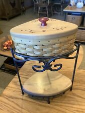 New ListingLongaberger Small Wro Iron Shelf With Basket And Non Longaberger Shelf & Lid