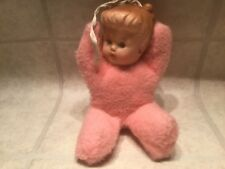 """Vintage Pride of America Cuddle Toys by Douglas Plush Pink Girl Doll. 7"""" dolly"""