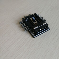 ide power 4p to 8 port mainboard Fan power cable Hub 3p 12V PCB 2 Level Speed