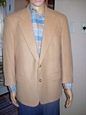 Brooks Brothers Pure Camel Hair Sport Coat Size 42 $328 tag short arms