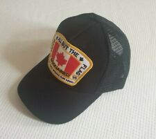 Dsquared2 Black Baseball Cap snapback meshback Canadian Flag Free Post Brand new