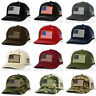 USA AMERICAN Flag Hat Cap Tactical Military Snapback Mesh Trucker Baseball Cap