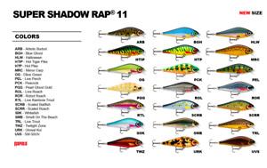 Rapala Super Shadow Rap // SSDR11 // 11cm 38g Fishing Lures (Choice of Colors)