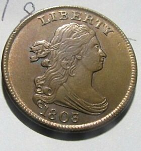 SHARP AU 1803 HALF CENT! FABULOUS COIN!!! ONLY $1.399-!! MAKE A CLOSE OFFER!
