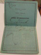 MARINE NATIONALE 14-18 : PERMIS DE MOBILISATION + PASSAGE BATEAU PETRONILLE 1916