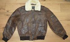 Rino & Pelle Leather Pilot Jacket Military Uniform  Sheepskin Collar size 52