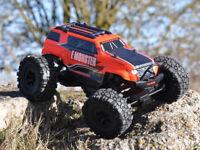 BSD Monster Truck 1/10 Scale 4WD Radio Control Rock Crawler  - Orange Complete