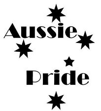 Vinyl car, ute decal Southern Cross & Aussie Pride - Choose colour