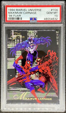 Maximum Carnage 1994 Marvel Universe '94 Flair #104 Spider Man PSA 10 POP 7