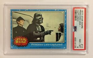 1977 TOPPS STAR WARS TRADING CARD - SERIES 1: BLUE - #10 DARTH VADER - PSA 8