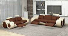 Sofagarnitur Design Canapé 3+2 Set Rembourrage Cuir Salon Accessoires 4008