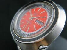 SEIKO SPORTS ORANGE  70m AUTOMATIC 6119-6400 VINTAGE DIVER WRIST WATCH 70s