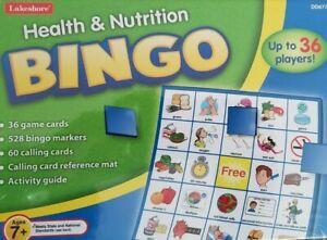 LAKESHORE HEALTH & NUTRITION BINGO GAMES ~~AGE 7÷