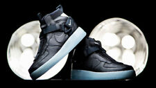 NIKE AIR FORCE 1 UTILITY MID BOOTS  BLACK AND ICE BLUE UK 8 EUR 42.5 US 9