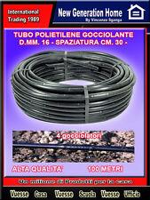 100 METRI  Tubo irrigazione diametro 16 ala gocciolante rigida passo 30 cm