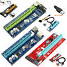 USB 3.0 Pcie PCI-E Card Adapter Express 1x To 16x Extender Lot Power BTC Cable